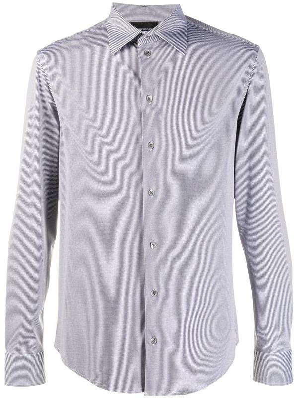 Emporio Armani Shirt In Blue