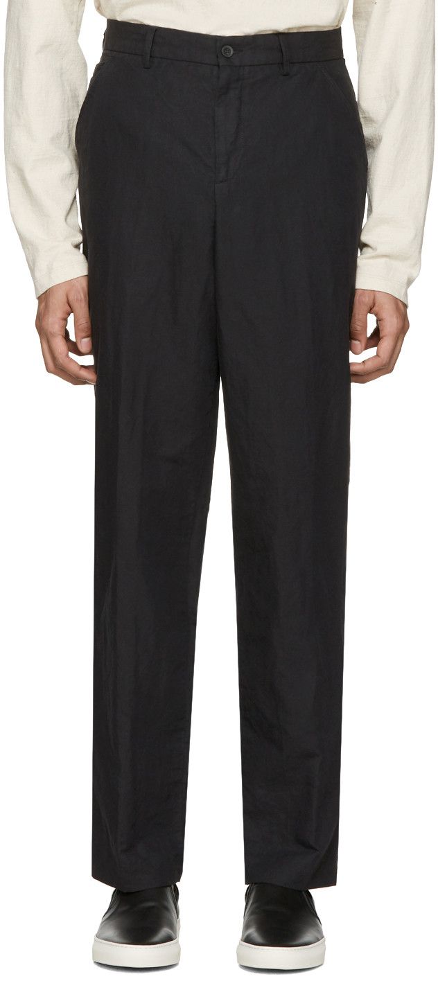 Our Legacy Wide-Leg Cotton-Corduroy Trousers In Black
