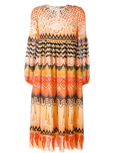 Temperley London Prophecy Print Midi Dress