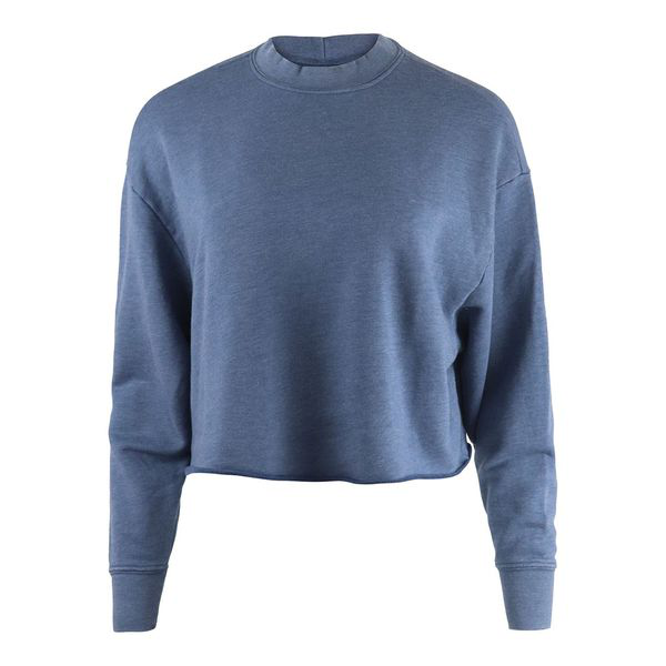 J Brand Wendy Cropped Sweatshirt In Blue
