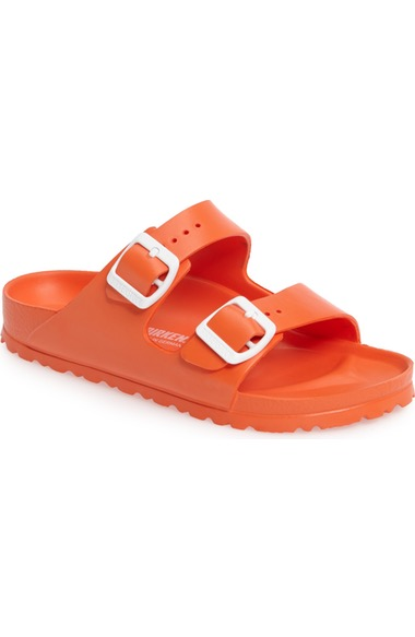 Birkenstock Essentials - Arizona Slide Sandal In Scuba Coral