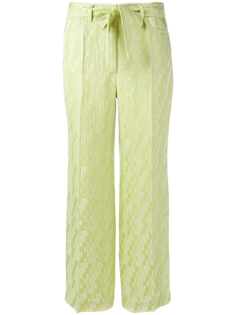 Etro Jacquard Cropped Trousers