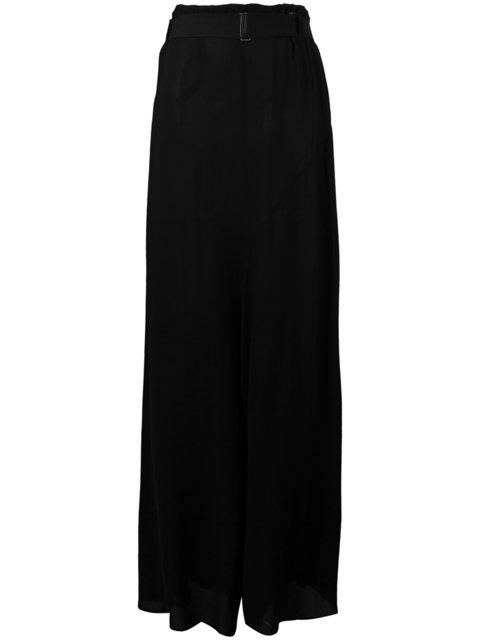Ann Demeulemeester Long Draped Skirt