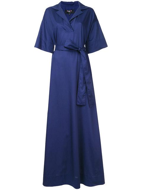Paule Ka Long Woven Wrap Dress