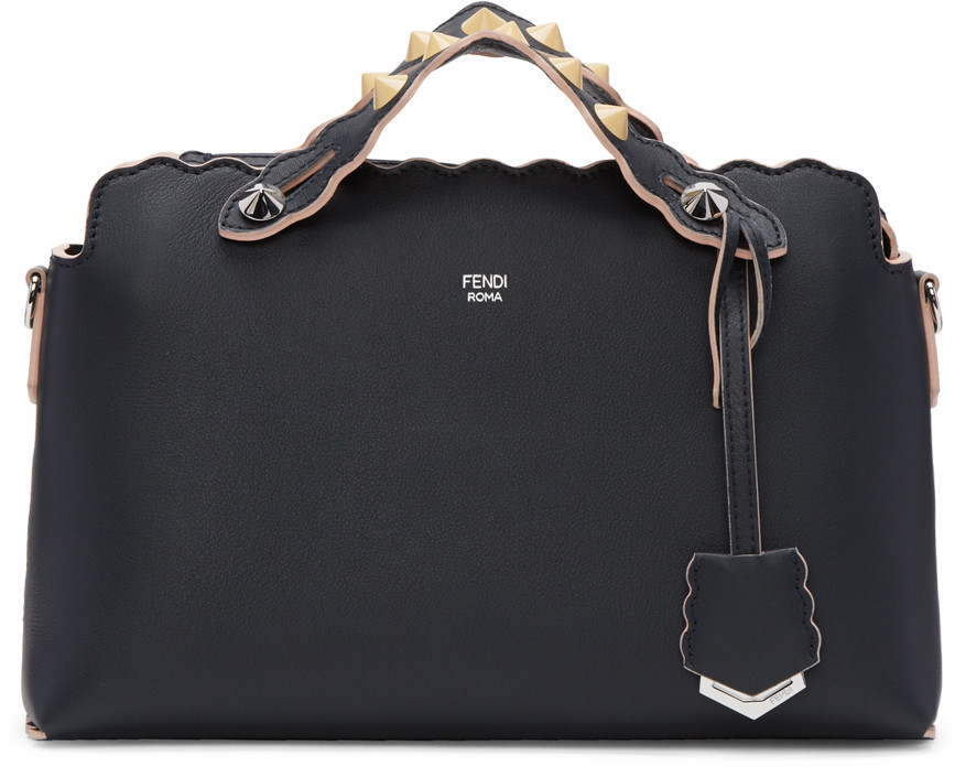 Fendi Small By The Way Colorblock Leather Shoulder Bag - Black