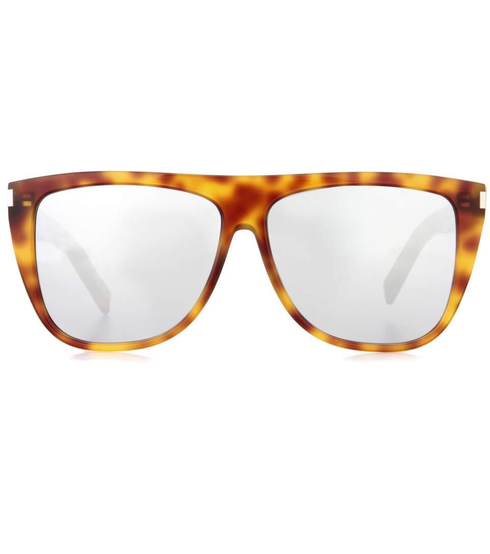 Saint Laurent D-Frame Mirrored Sunglasses