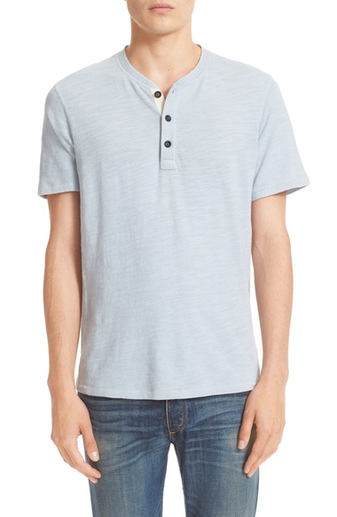Rag & Bone Standard Issue Henley In Fog Blue