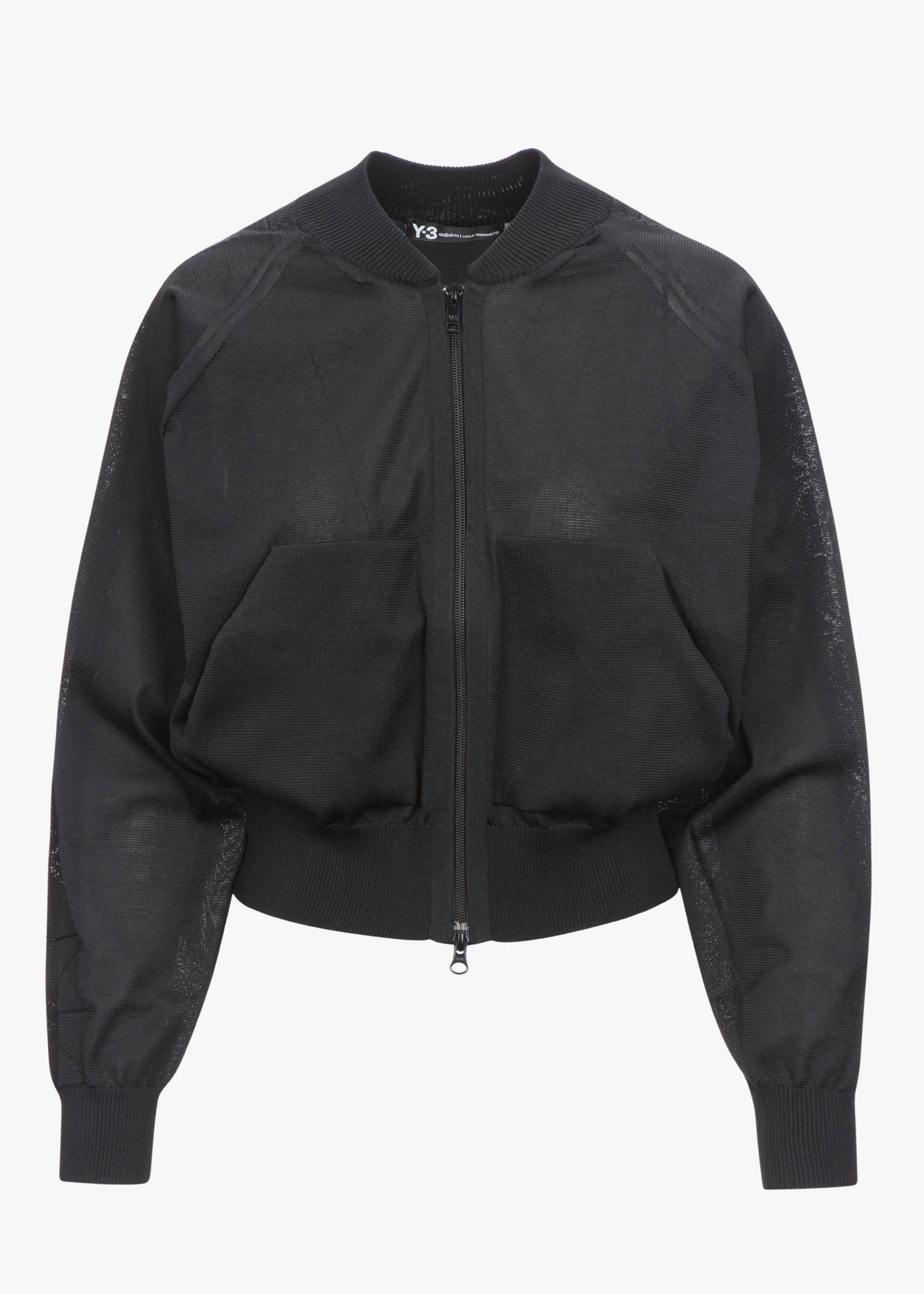 Y-3 Knit Bomber Jacket In Black