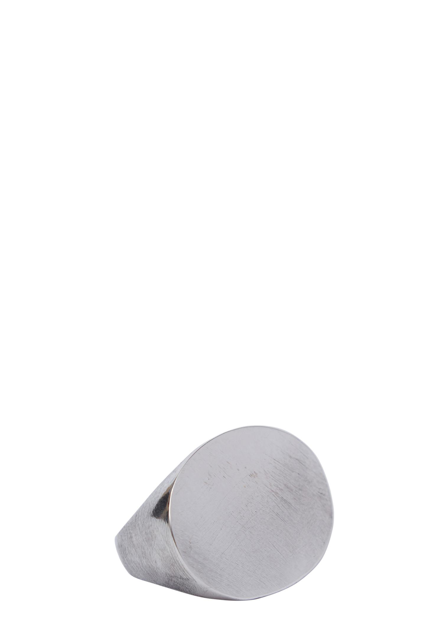 Ann Demeulemeester Silver Flat Surface Ring In Polished Silver