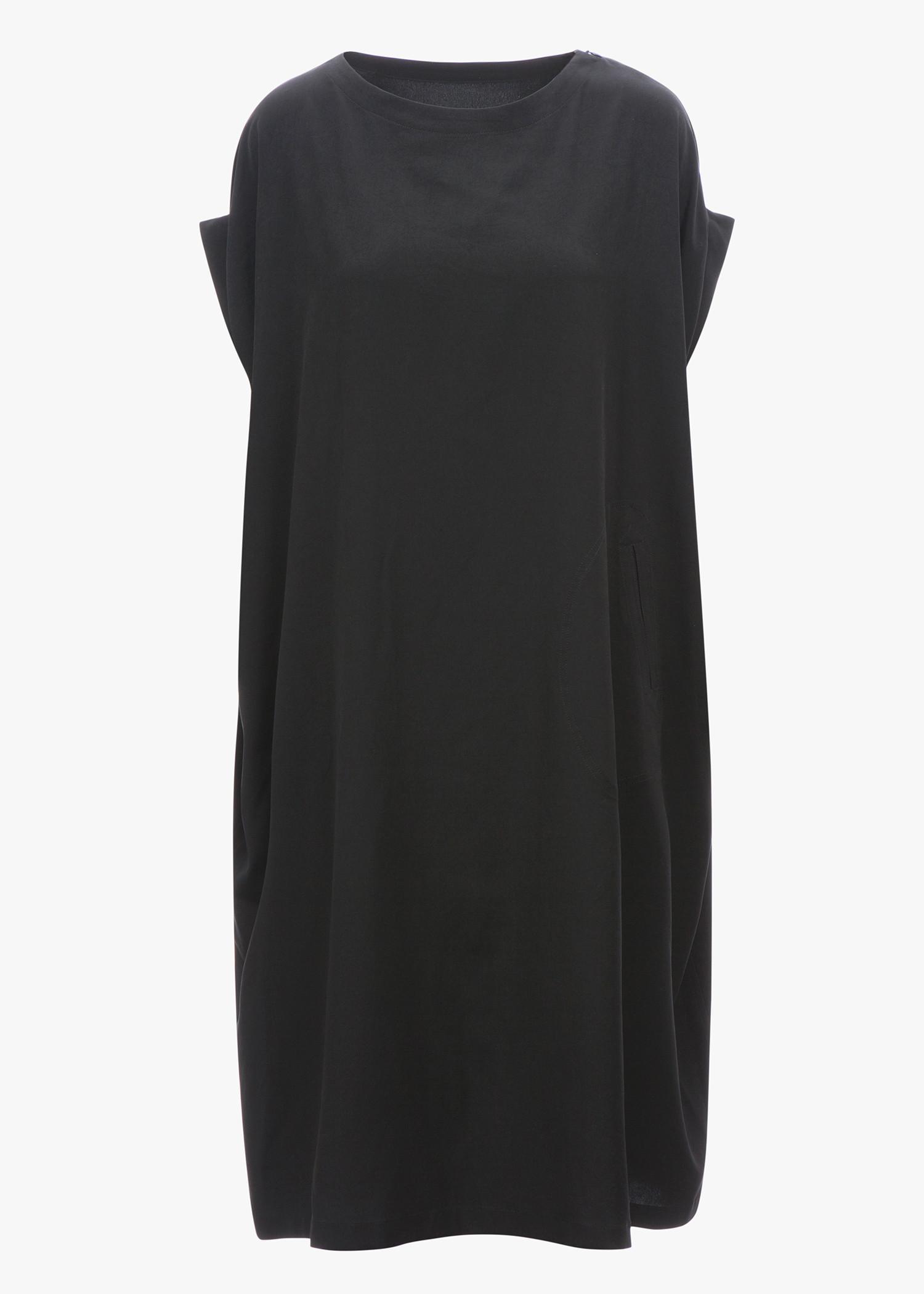 Y's Mini Sleeve Dress In Black