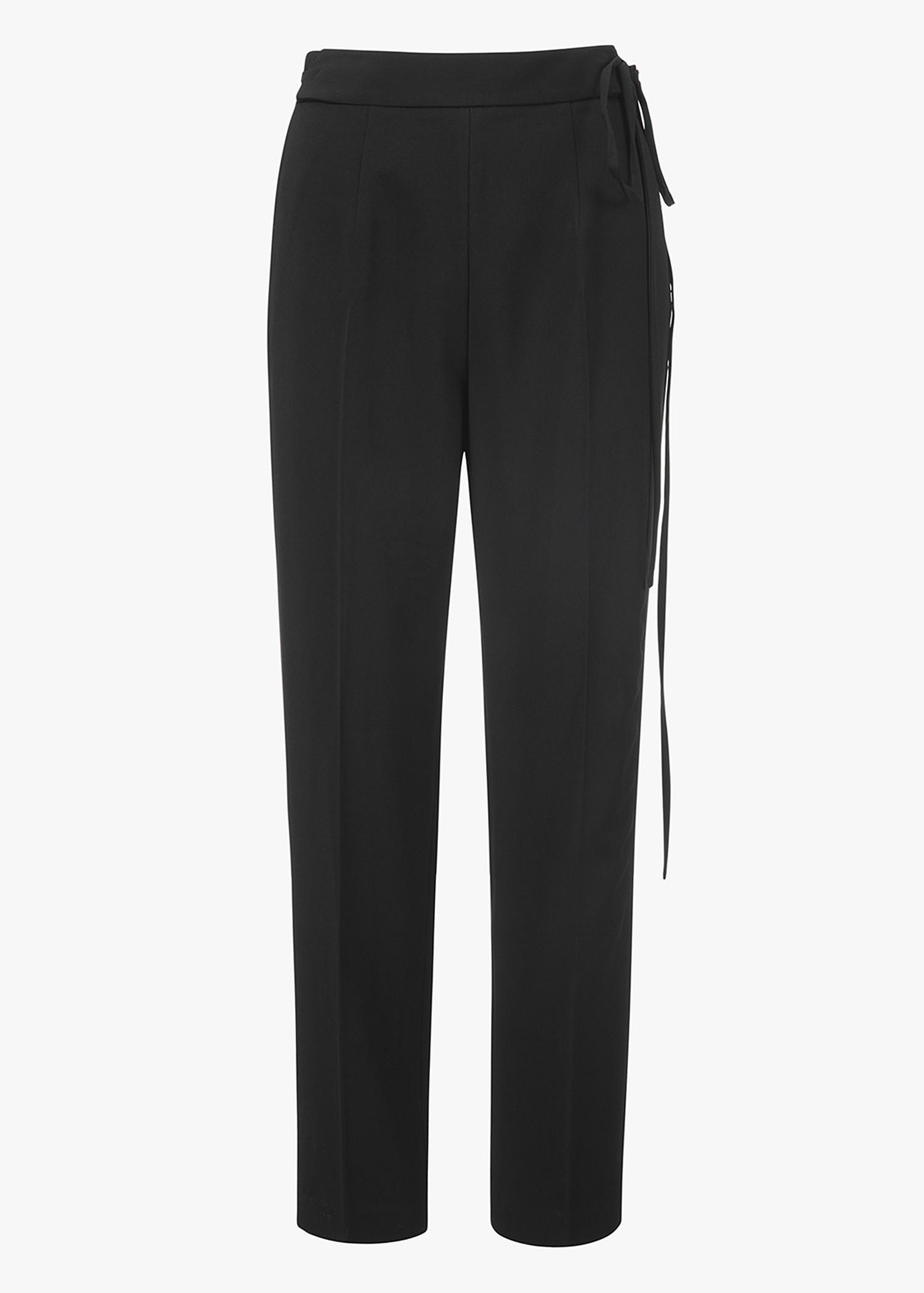 T By Alexander Wang Waist Tie Trouser In Black