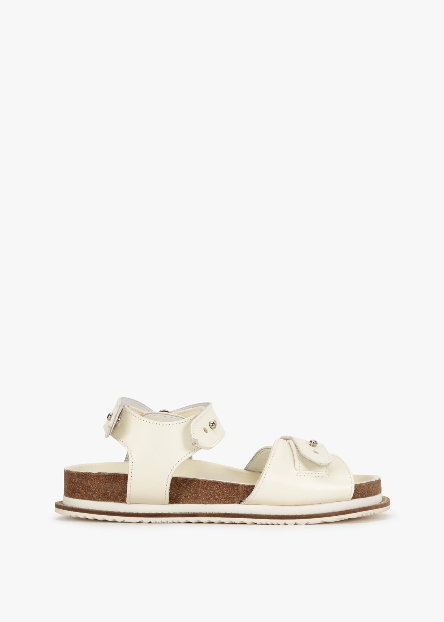 Y's Belt Sandal In White