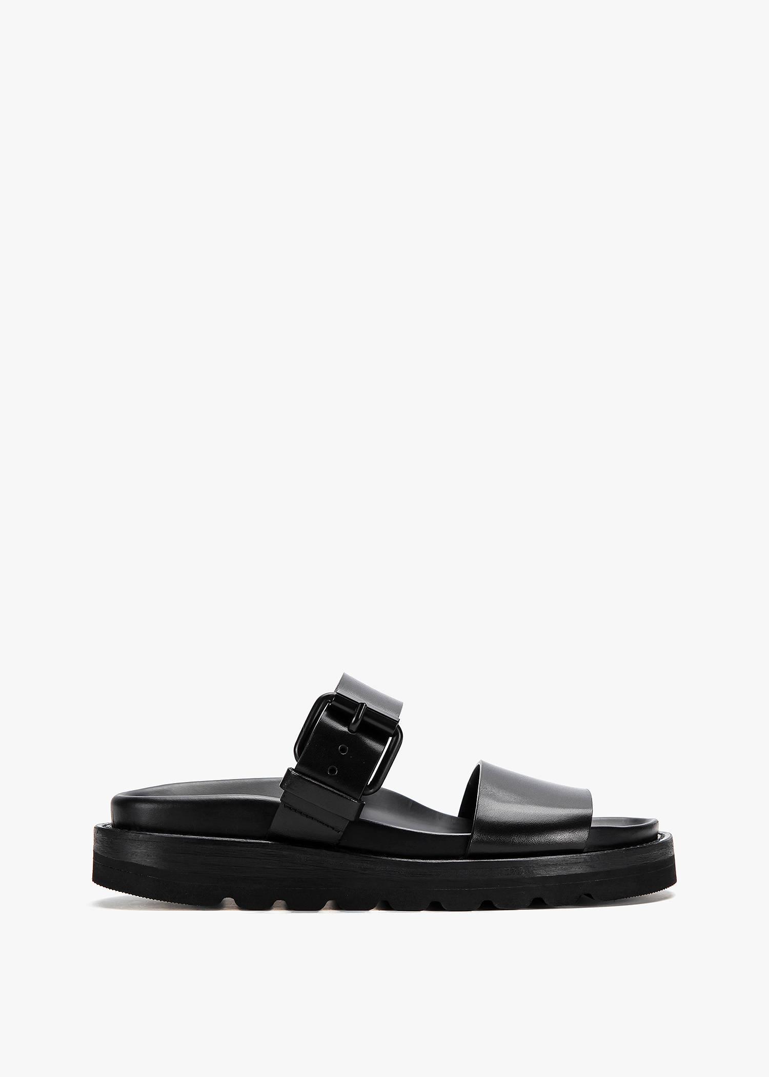 Ann Demeulemeester Strap Sandal In Black