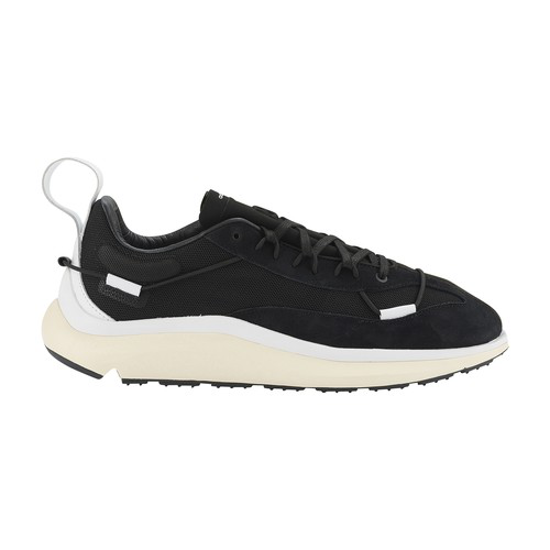 Y-3 Shiku Run Leather And Suede-trimmed Mesh Sneakers In Black/cwhite/ecrtin