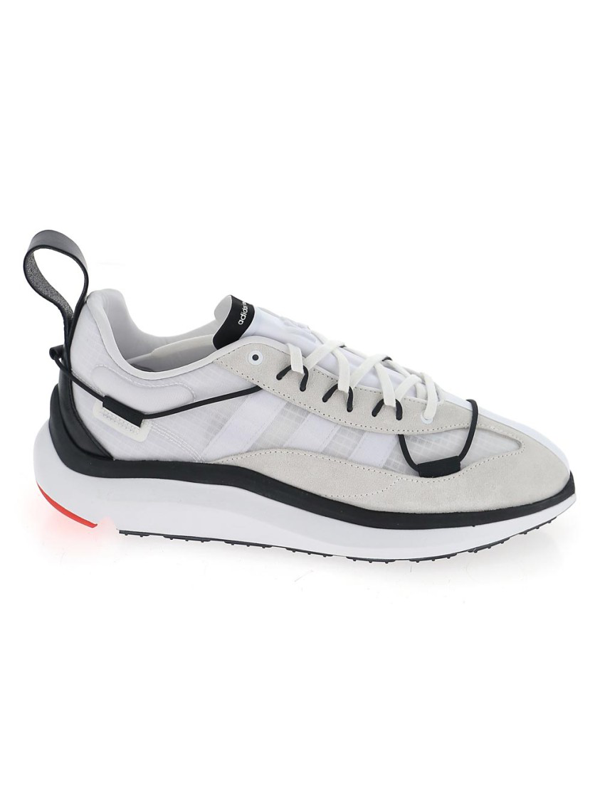 Y-3 Shiku Run Leather And Suede-trimmed Mesh Sneakers In White