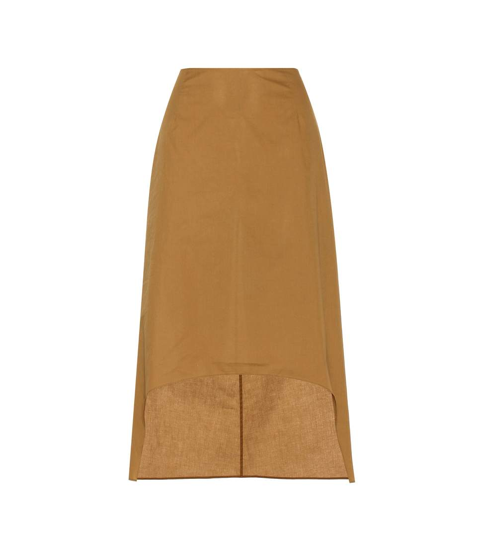 Marni Cotton Skirt In Brown
