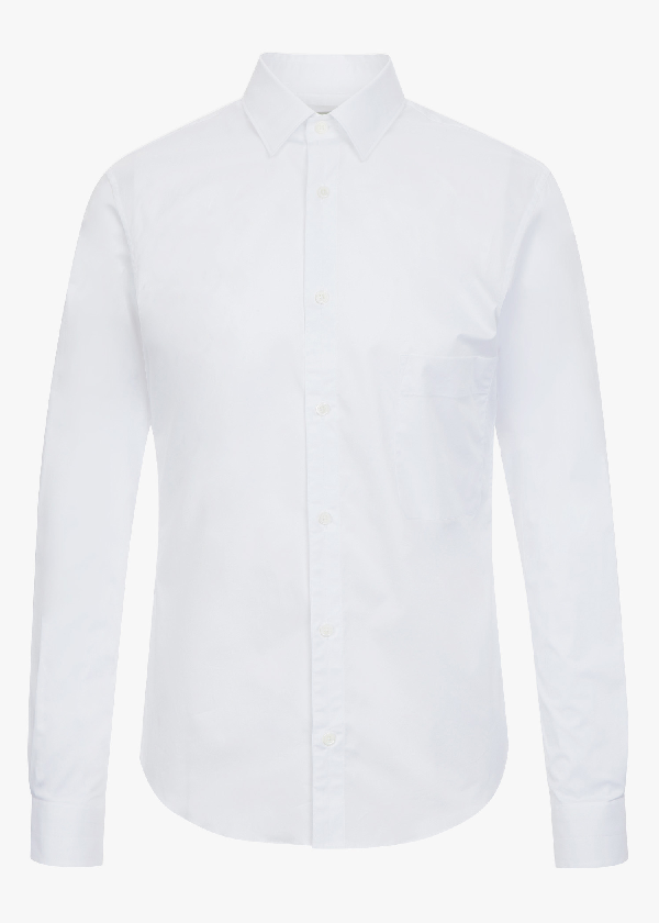 Lemaire Straight Colalr Shirt In White