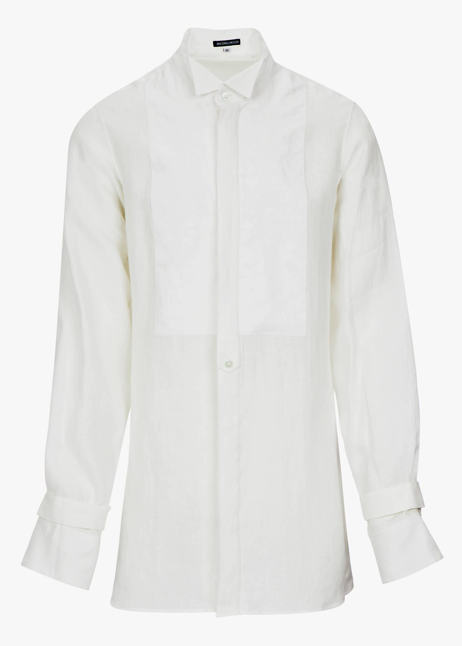 Ann Demeulemeester Light Brushed Shirt In Off White