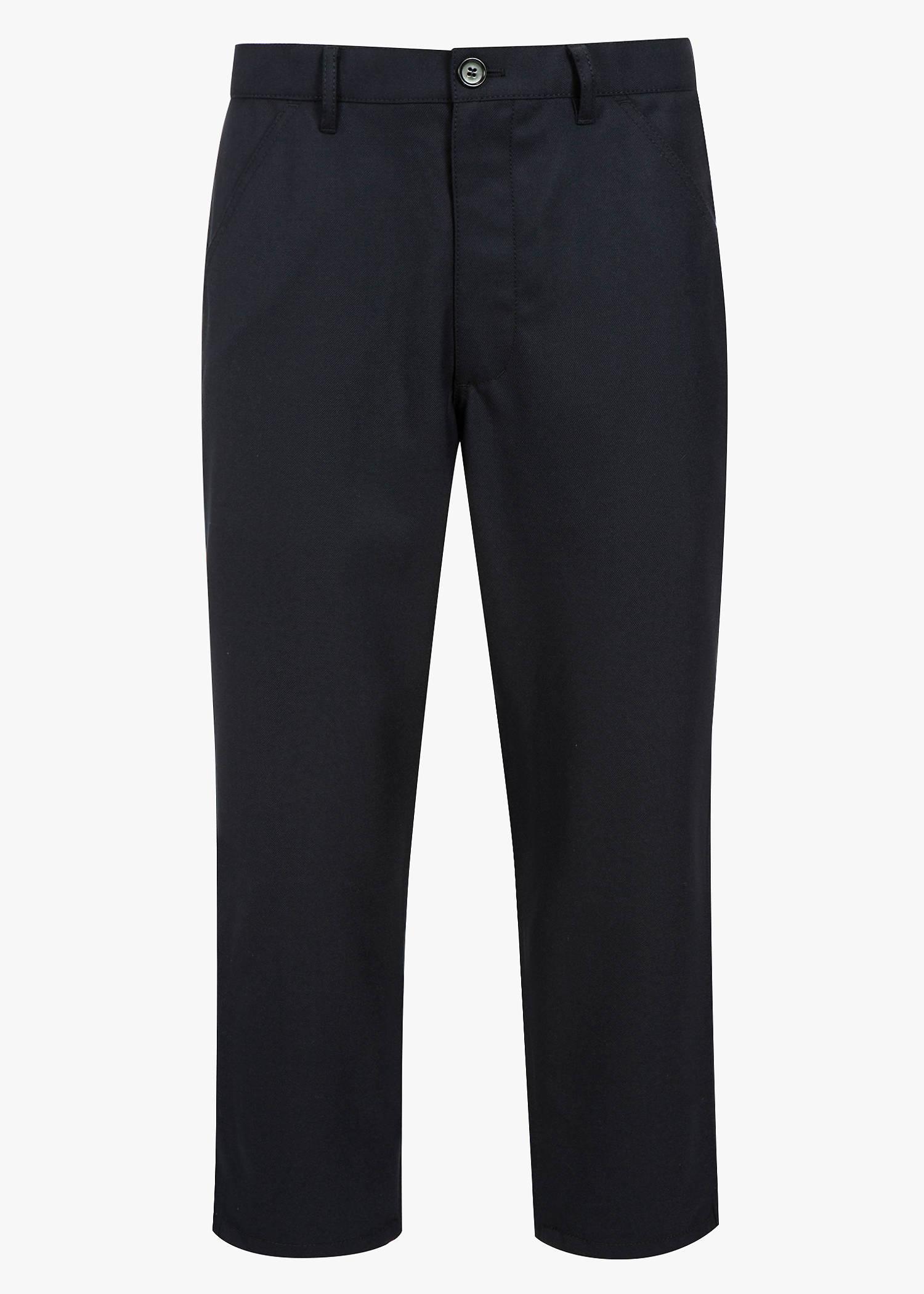 Comme Des GarÇOns Shirt Cropped Pants In Navy