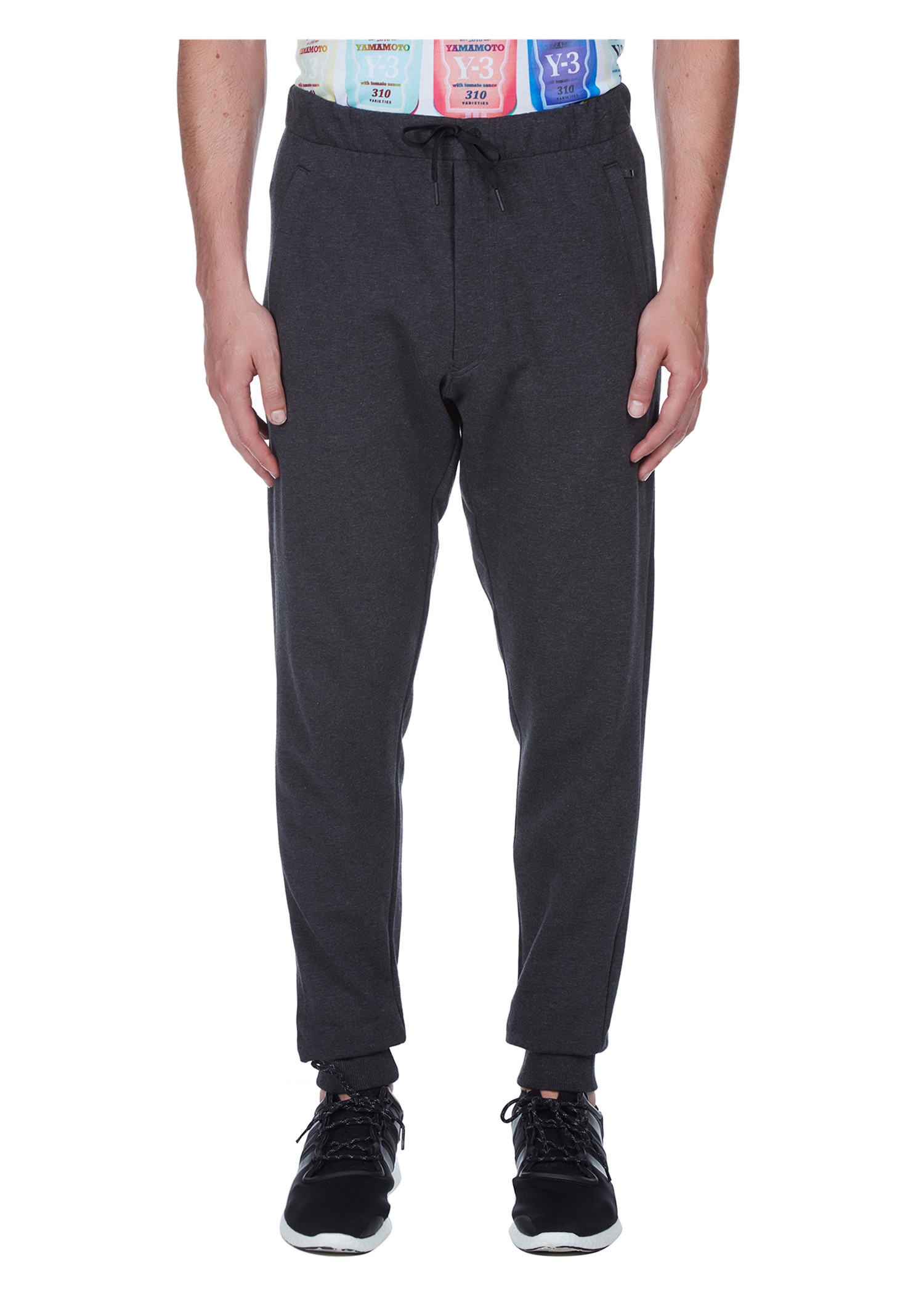 Y-3 Cl Track Pants In Charcoal Melange