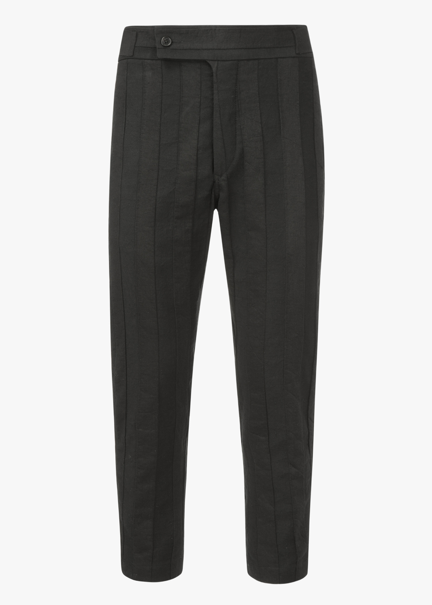 Ann Demeulemeester Side Cinched Trousers In Black