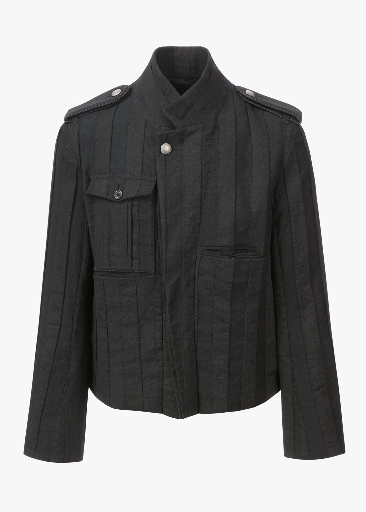 Ann Demeulemeester One Chest Pocket Blouson In Black