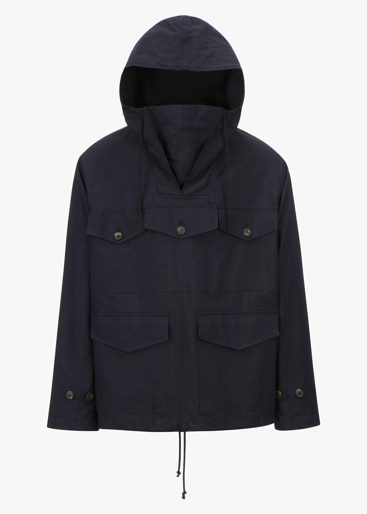 Dries Van Noten Viper Pullover Jacket In Navy