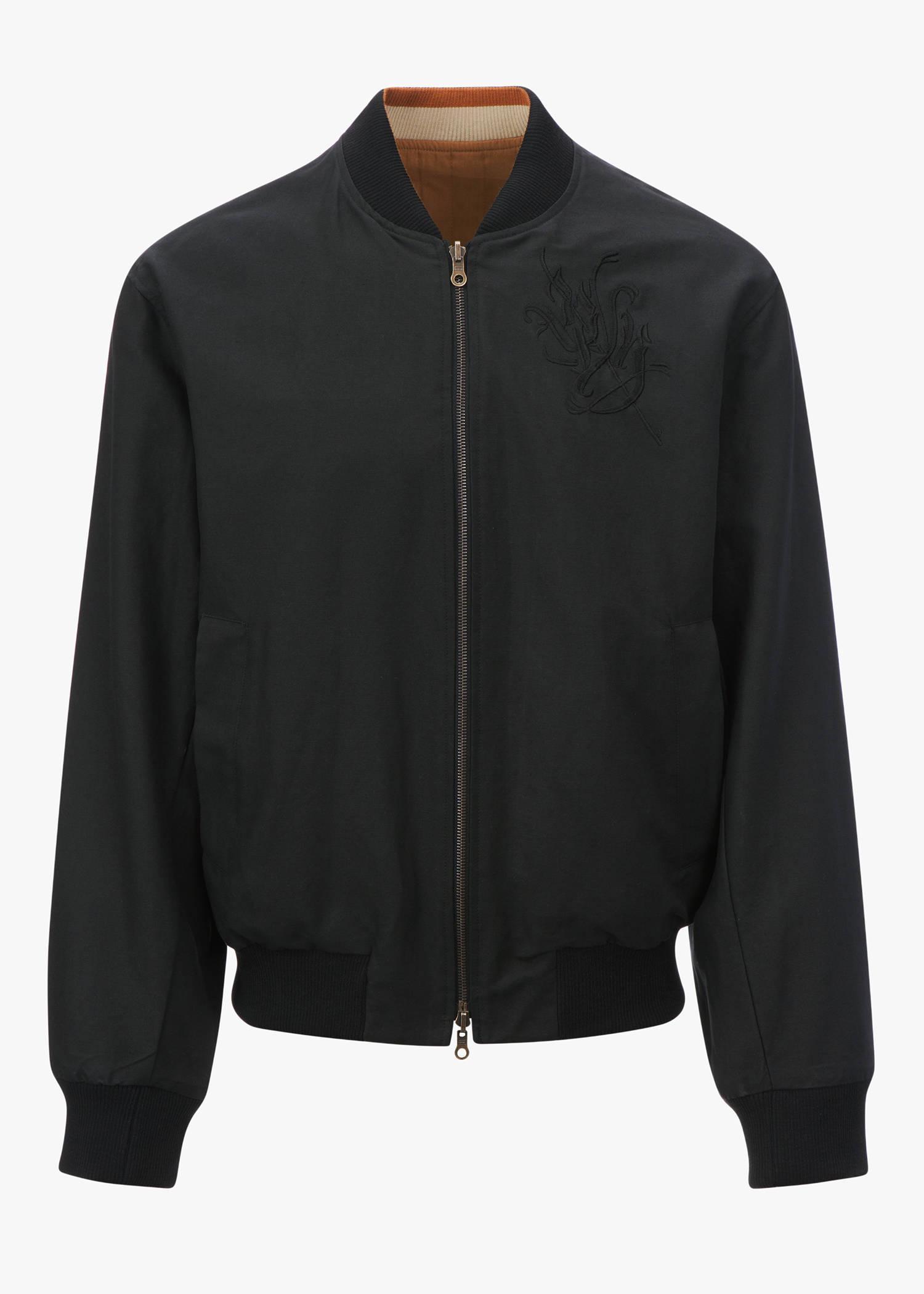 Dries Van Noten Volker Multicolor Reversible Jacket In Black