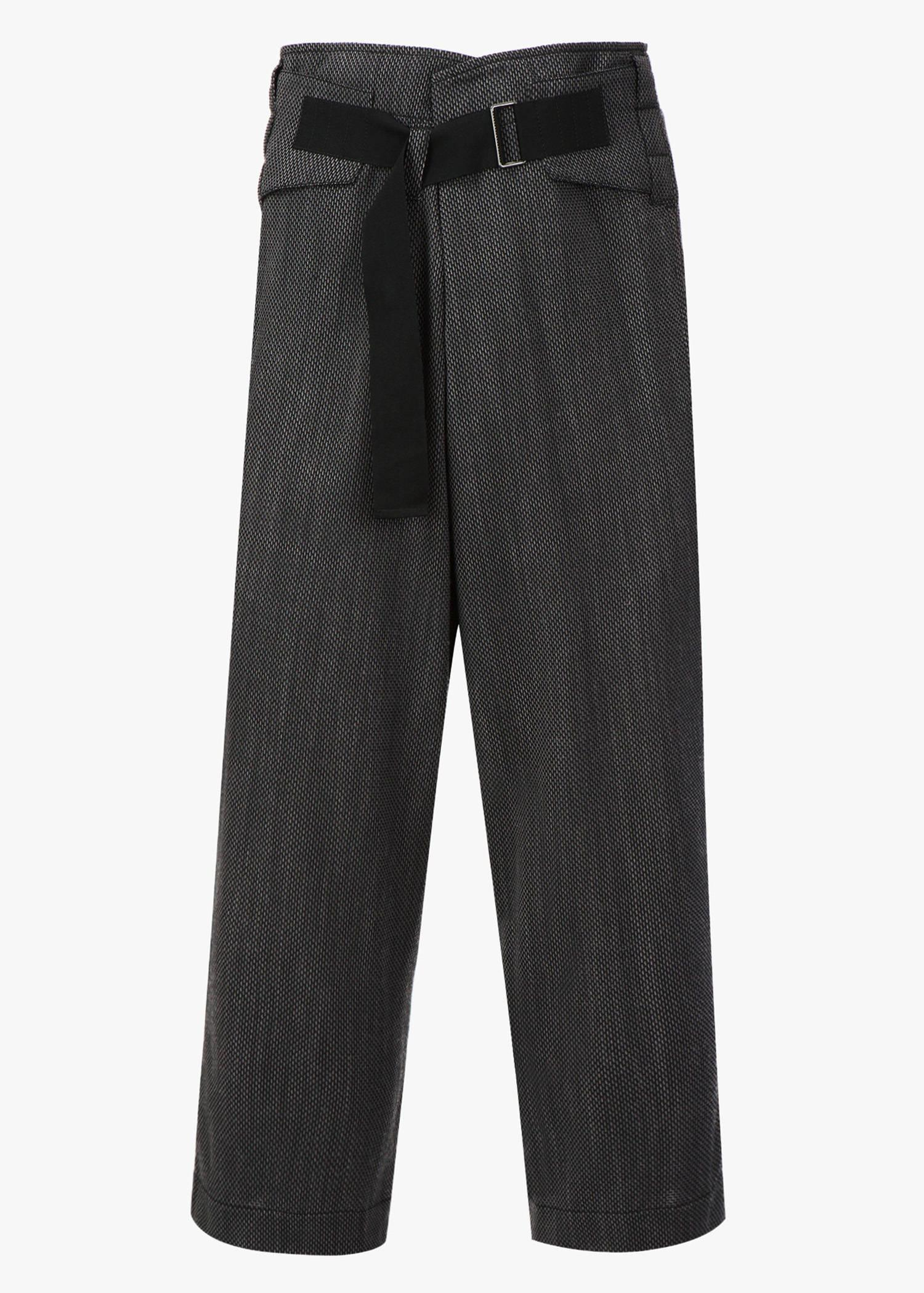 Ann Demeulemeester Belted Loose-Fit Trousers In Grey/Black
