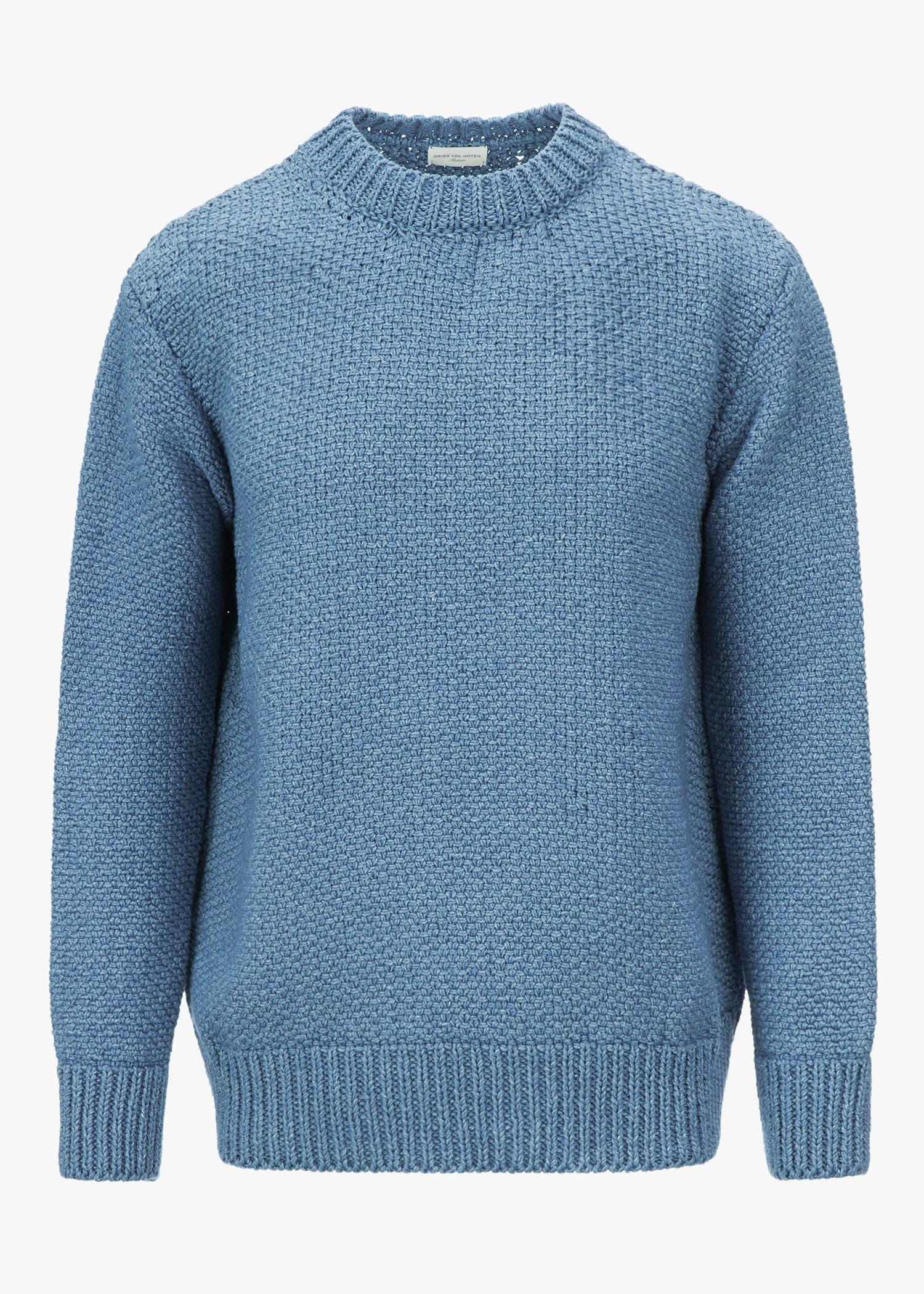 Dries Van Noten Neighbour Sweater In Light Blue
