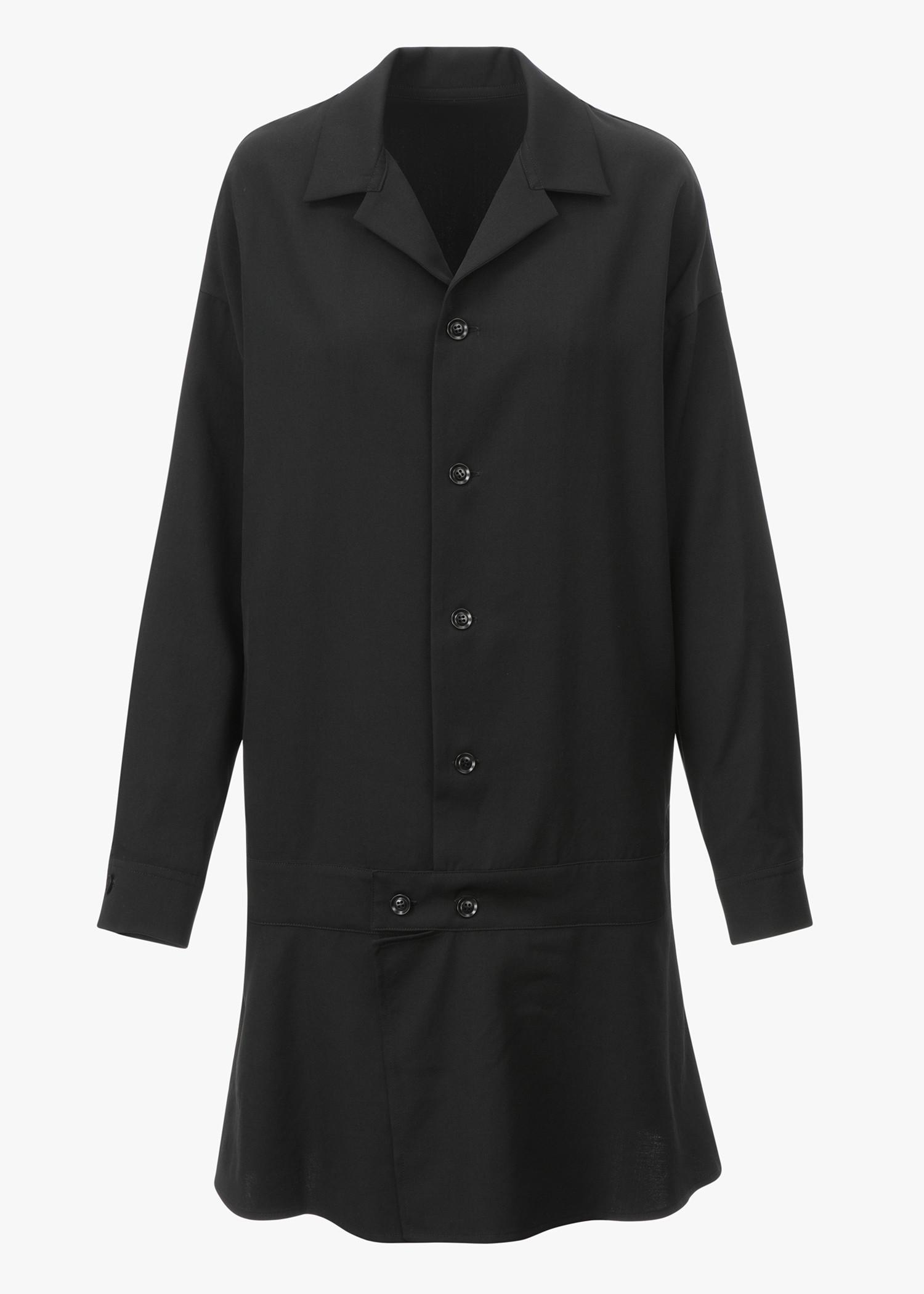 Y's Flare Skirt Long Bomber In Black