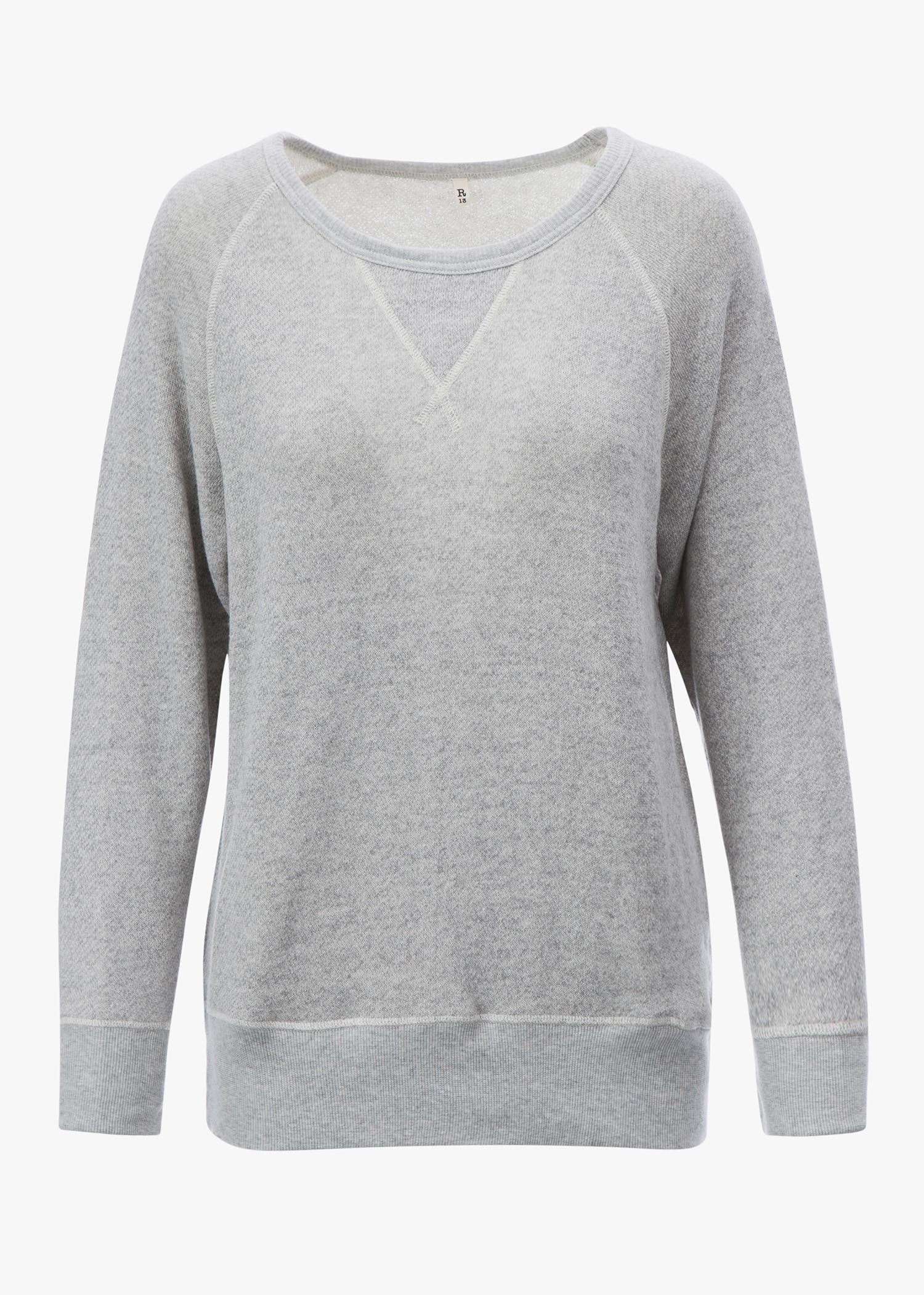 R13 Sweatshirt In Light Heather