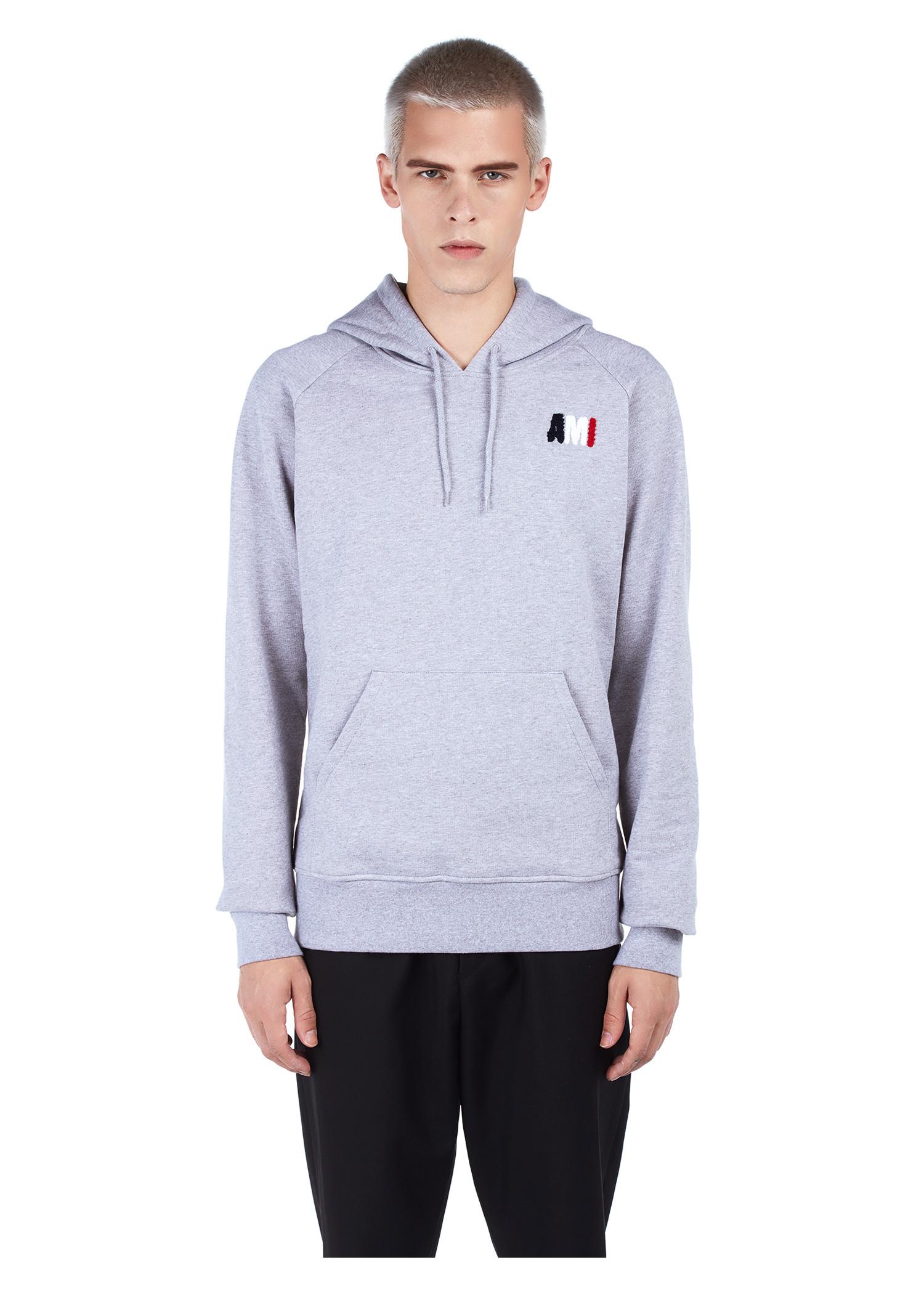 Ami Alexandre Mattiussi Ami Crewneck Sweatshirt In Heather Grey