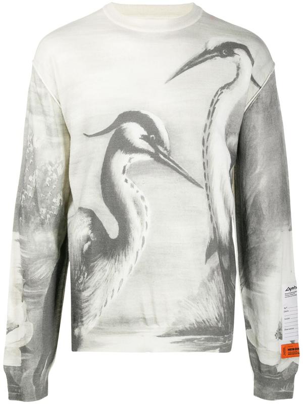 Heron Preston Heron Print Jumper In White