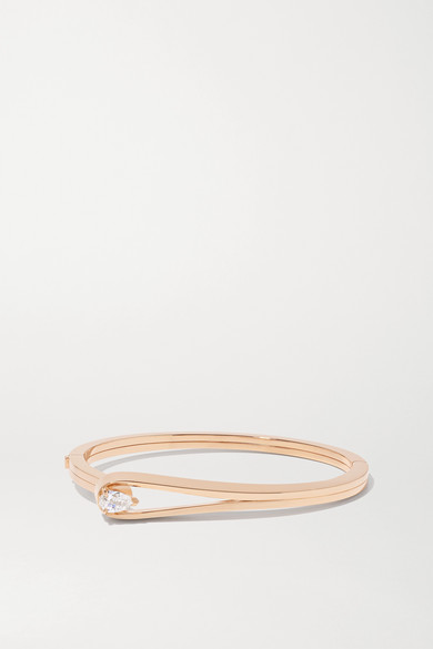 Repossi Serti Inversé 18ct Rose Gold And 0.5ct Diamond Bracelet