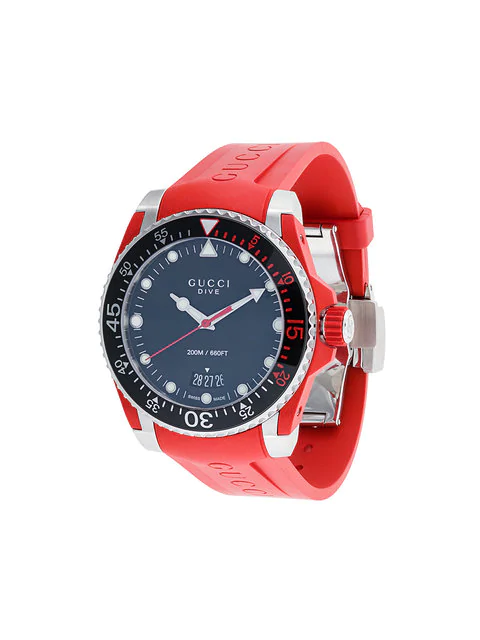 dde1707ae9e Gucci Red And Silver Dive Watch