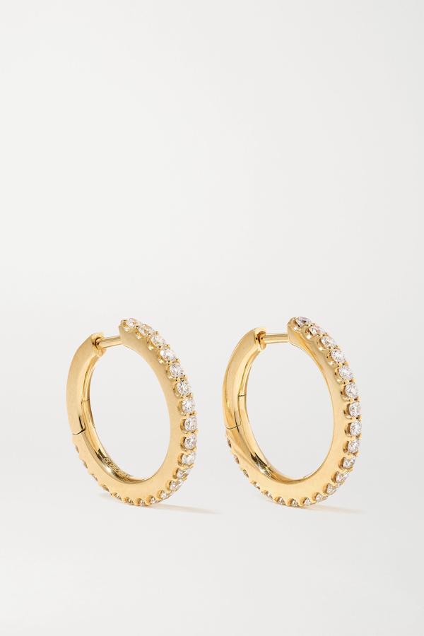 Ole Lynggaard Copenhagen Love Band Small 18-karat Gold Diamond Hoop Earrings