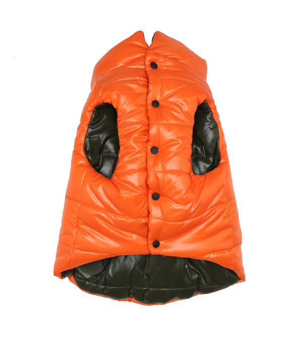 Moncler Exclusive To Mytheresa - Reversible Dog Gilet In Orange