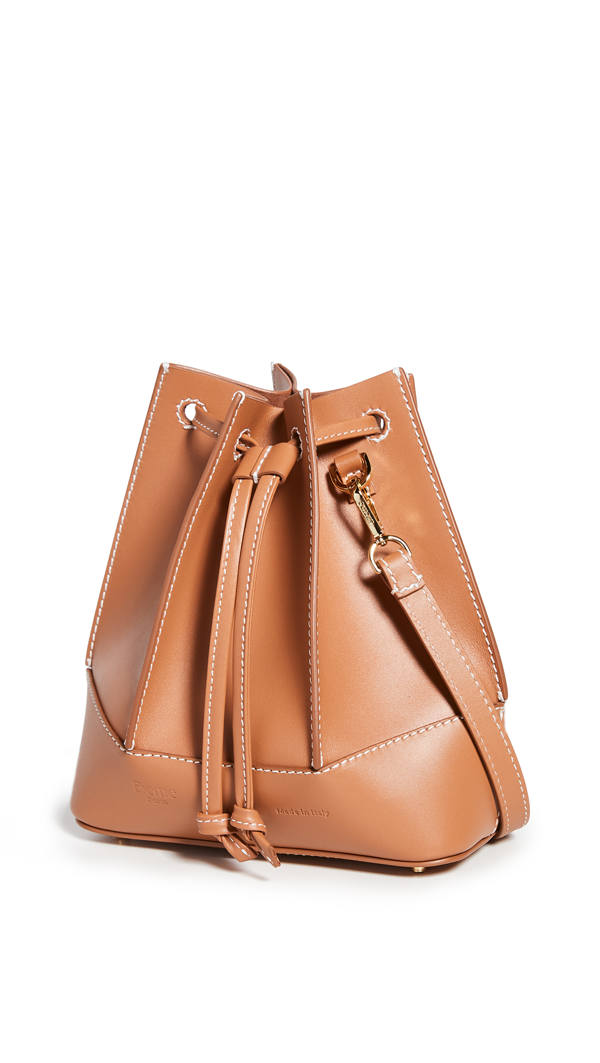 Elleme Canelé Bucket Bag In Caramel