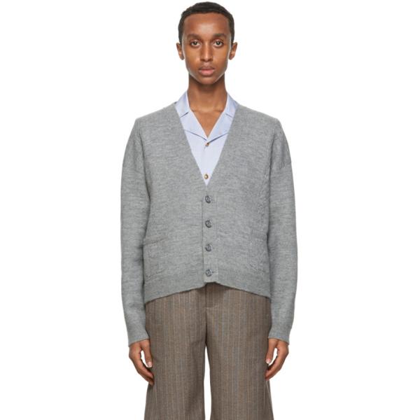 Gucci Grey Wool Cropped Cardigan In 1401 Light