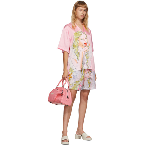 Im Sorry By Petra Collins Ssense Exclusive Pink Graphic Shirt And Shorts Set In Pink + Mult
