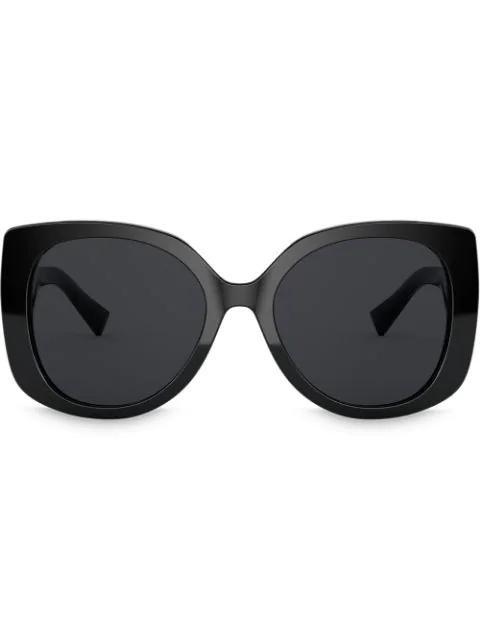 Versace Womens Black Ve4387 Square-frame Acetate Sunglasses