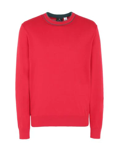 Ps By Paul Smith Ribbed Trim Sweater In Red