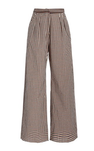 Alix Of Bohemia Diana Houndstooth Wide-leg Trousers In Multi