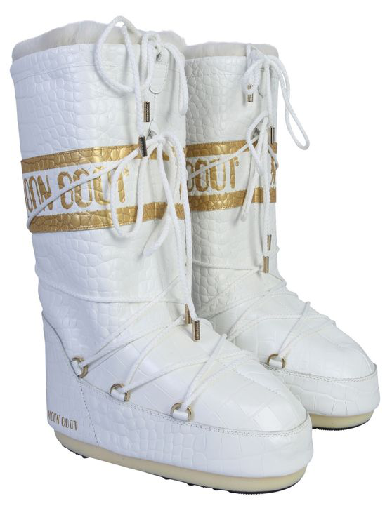 Moon Boot Classic Low 50th Anniversary  Unisex In White