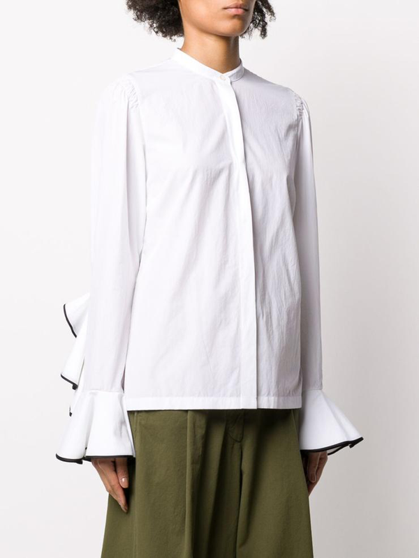 Dries Van Noten Women's 107139245bianco White Cotton Shirt