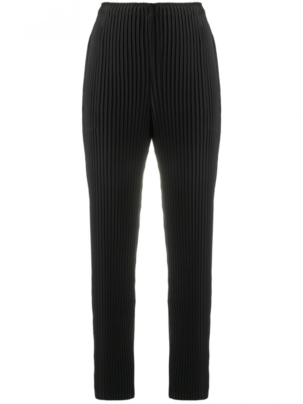 Issey Miyake Pleated Trousers In Nero