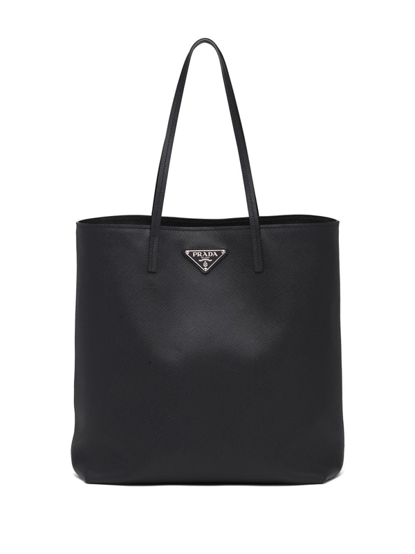 Prada Tote Bag In Saffiano Leather In Black