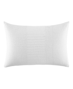 Vera Wang Blocked Running Stitch Decorative Pillow, 15 X 22 - 100% Exclusive In White