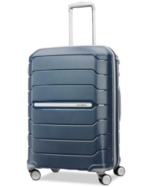 "Samsonite Freeform 24"" Expandable Hardside Spinner Suitcase In Navy"